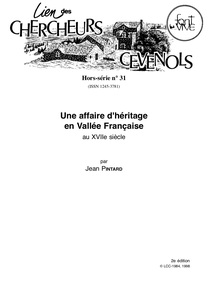 une affaire d'héritage en vallée française au XVIIe siècle
